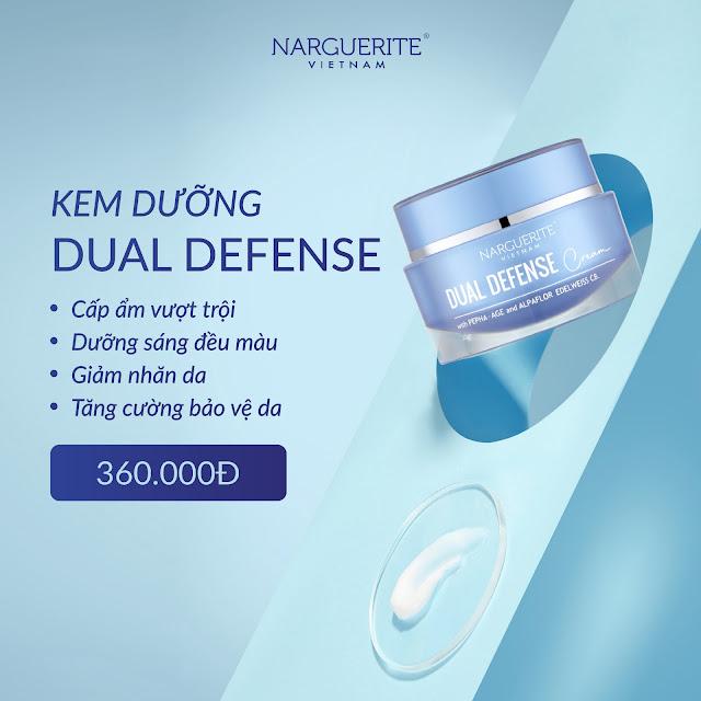 kem chống lão hóa dual defense narguerite