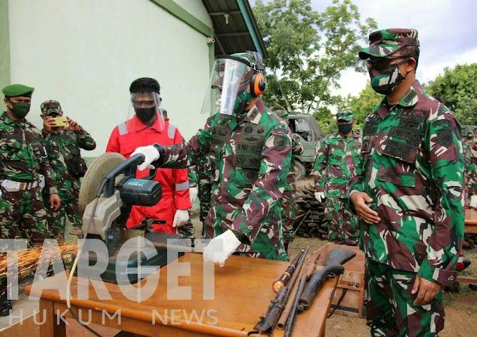 Pangdam XII Tanjungpura Pimpin Disposal 1.196 Pucuk Senjata Non Organik Hasil Operasi