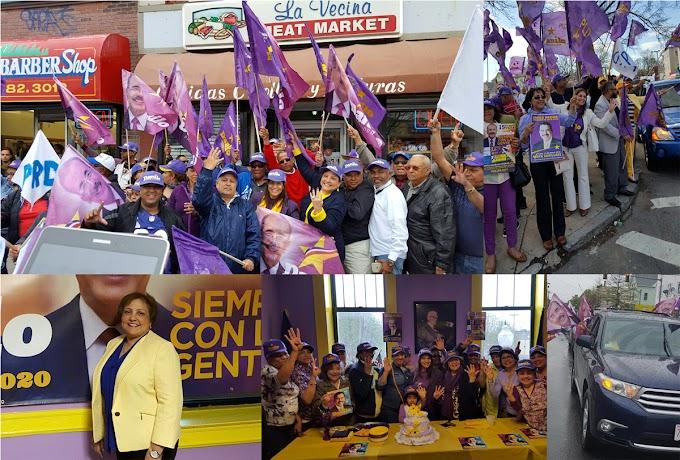 El PLD cierra campaña en Nueva Inglaterra con participación de miles en apoyo a la reelección