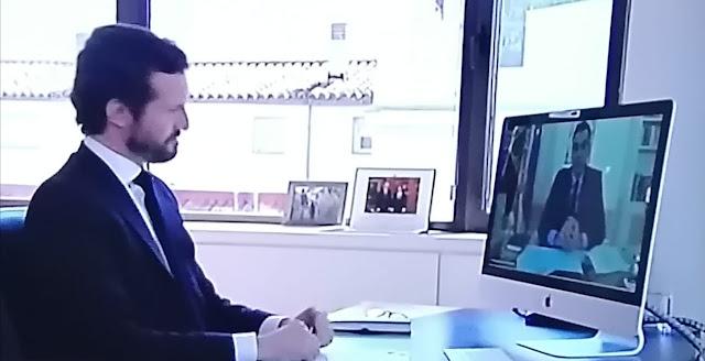 Sánchez se reúne con Casado para recabar su apoyo en la Mesa de reconstrucción
