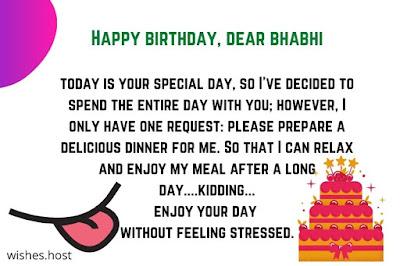 birthday wishes for bhabhi funny