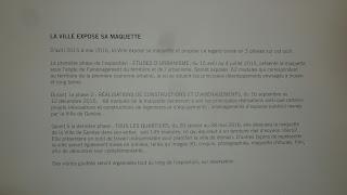 Affiche La Ville expose sa maquette