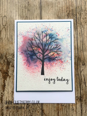 Brusho Crystal Colour, Stampin' Up! Have a go at creating this gorgeous Sheltering Tree card