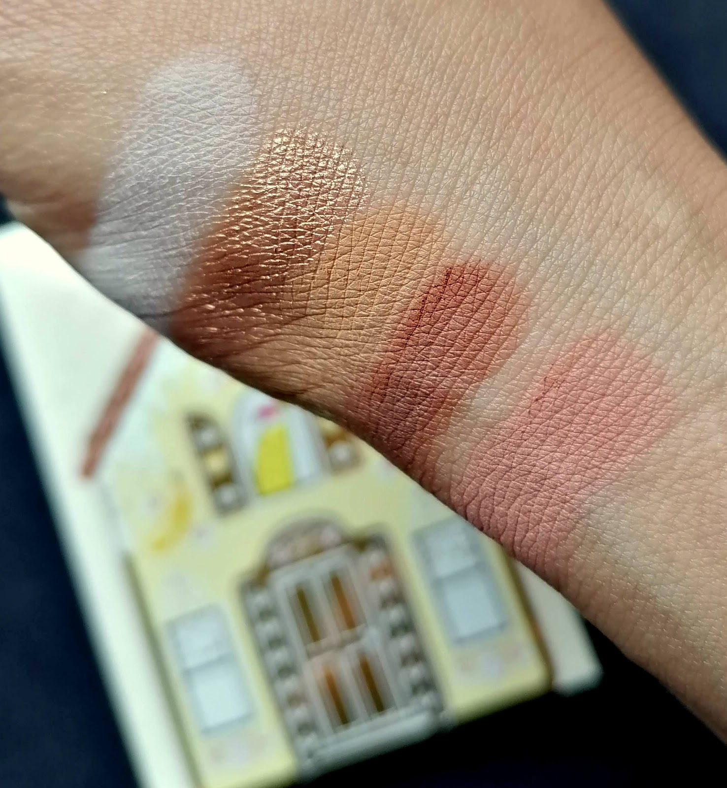 Gingerbread Lane de TOO FACED > swatch & male up