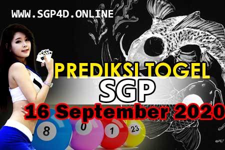 Prediksi Togel SGP 16 September 2020