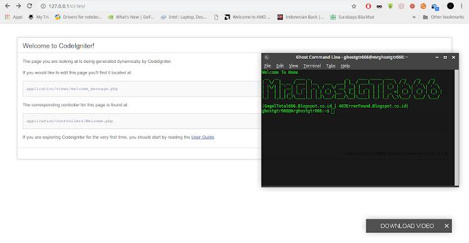 Install dan Konfigurasi Framework PHP CodeIgniter dengan Webserver Apache di GNU/Linux