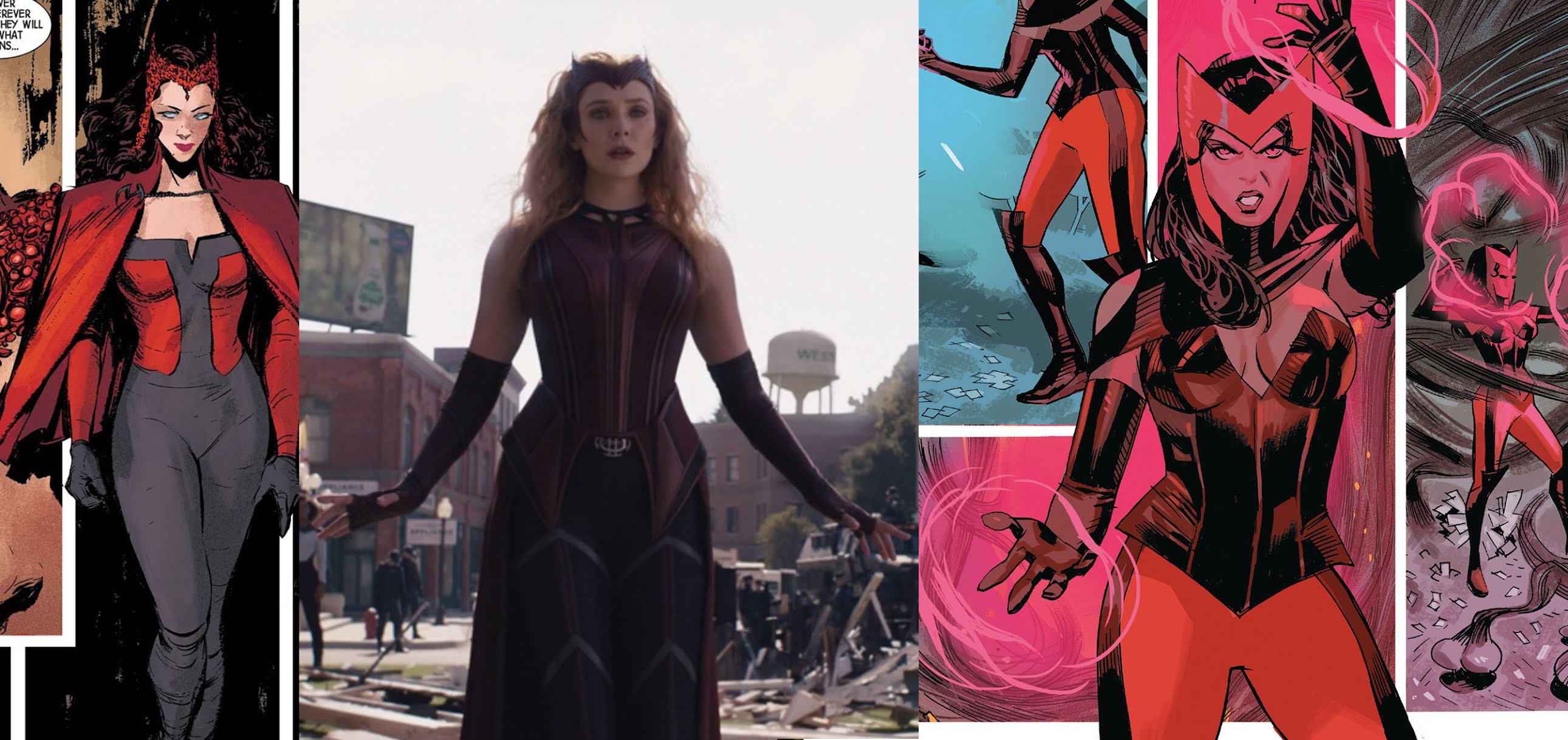 WandaVision-episodio-9-analisi costume scarlet witch fumetti
