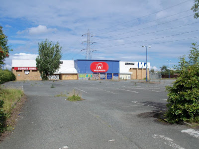 The abandoned Woolworths store in Brunstane, Edinburgh in August 2011