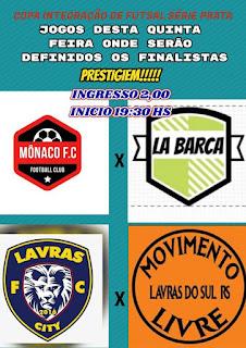ESPORTE E LAZER: Semifinais da Copa Integração de Futsal Série Prata