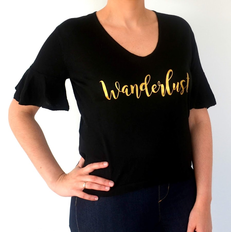 camiseta decorada letras vinilo
