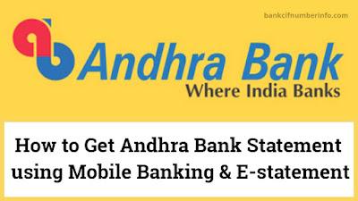 Get Andhra Bank Statement