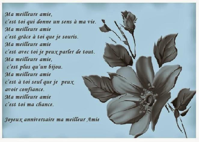 Carte Et Poeme Anniversaire Amie Texte Anniversaire Sms