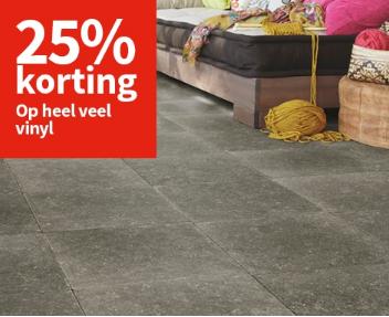 Procent korting op vinyl vloeren carpetright