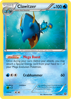 Clawitzer Steam Siege Pokemon Card