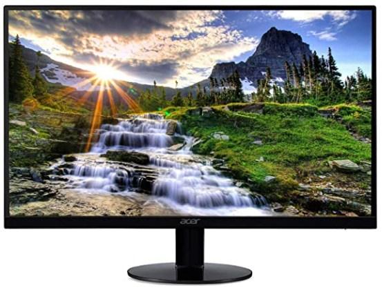 Acer SB220Q bi 21.5 Inches Full HD (1920 x 1080) IPS Ultra-Thin Zero Frame Monitor (HDMI & VGA Port), Black