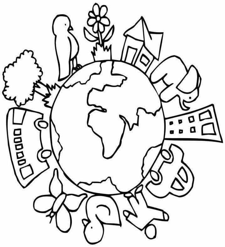 Desenhos Para Colorir Meio Ambiente Cantinho Do Educador