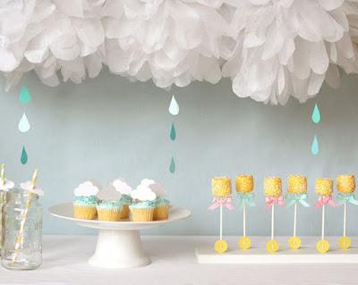 decoration de table pour bapteme bleue