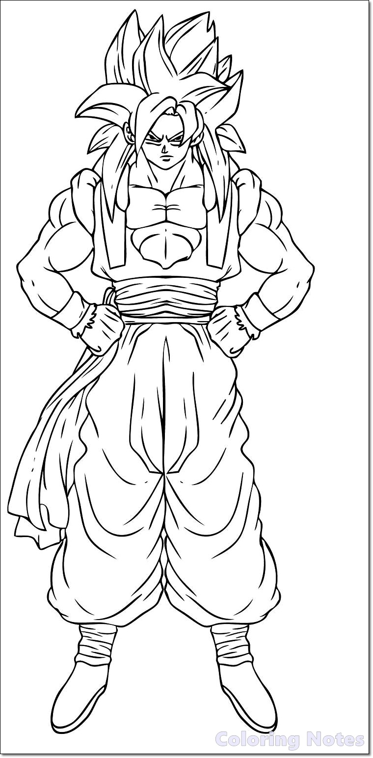 11 Free Dragon Ball Z Coloring Pages Printable For Kids Coloring