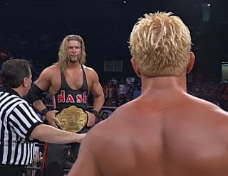 WCW - The Great American Bash 2000 - Kevin Nash challenged Jeff Jarrett for the WCW World Heavyweight Championship