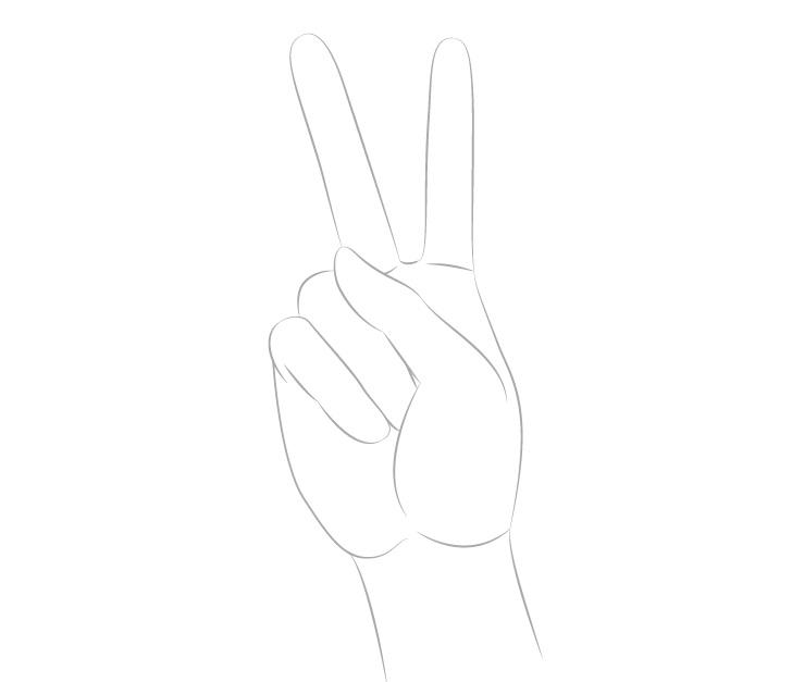 Gambar bentuk tanda perdamaian tangan