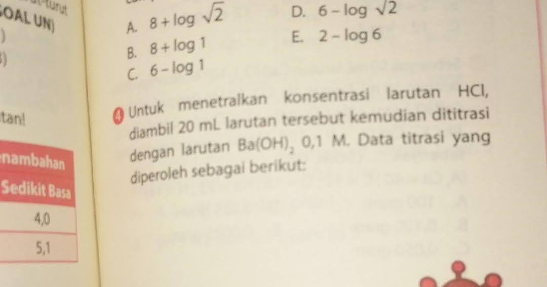 Latihan soal titrasi asam basa ( kelas XI ipa 4 )