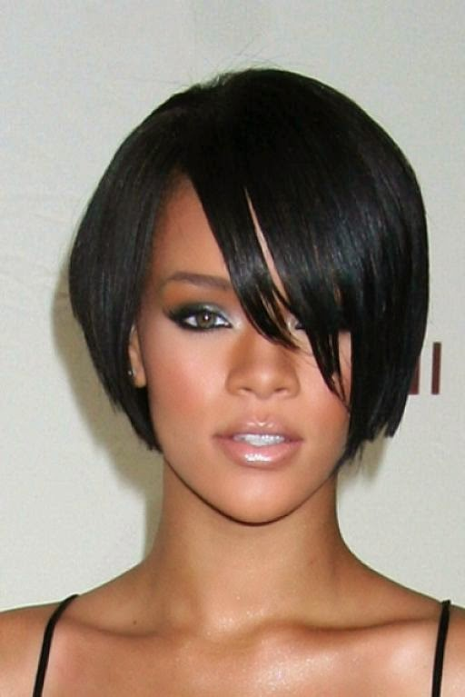 Outstanding Short Bob Hairstyles On African American Women Short Hairstyle Hairstyle Inspiration Daily Dogsangcom