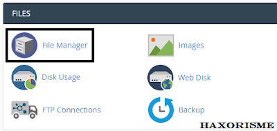 Menu File Manager Cpanel