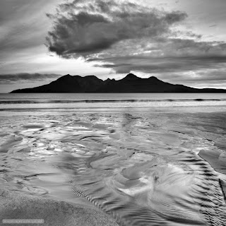 Patterns in the sand Bay of Laig
