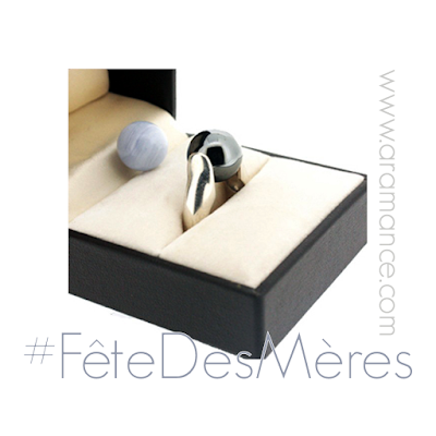Bague pierres fines interchangeables