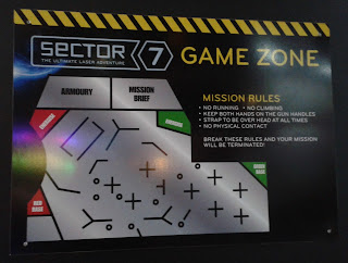 At the Sector 7 Laser Tag Adventure it's the Reds versus the Greens