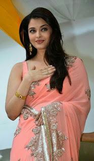 Aishwarya Rai Pink Saree 4