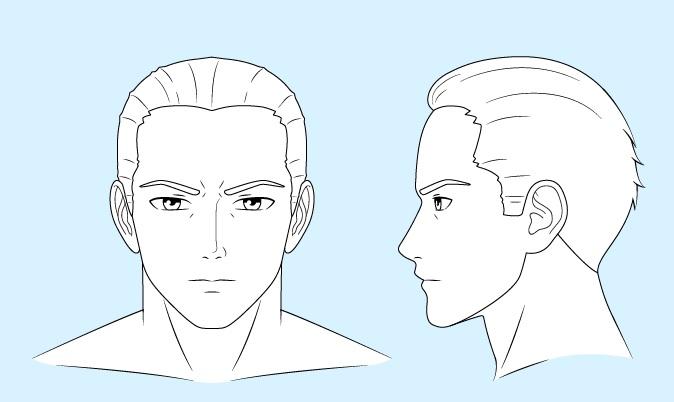 Gambar garis pria anime