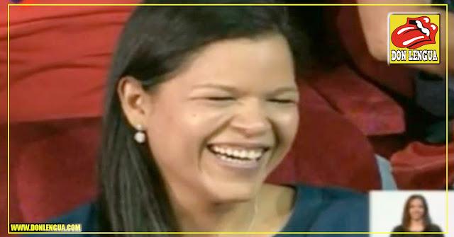 La vividora Maria Gabriela Chavez vino a visitar a Diosdado en su programa