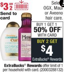OGX shampoo or conditioner