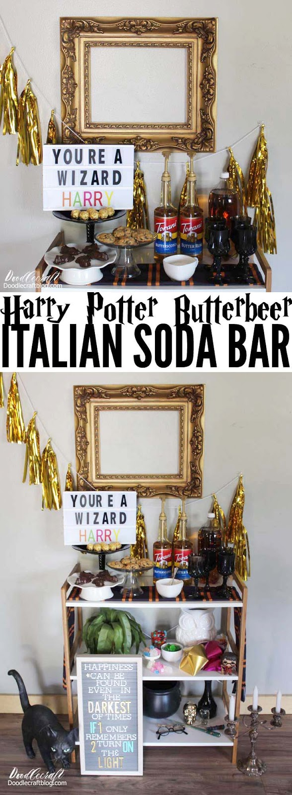Recipes for butter beer using Torani syrups for the simplest Harry Potter party treat!