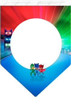 Banderines de Super Héroes en Pijamas para imprimir gratis.
