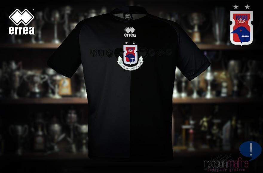 Camisa de Goleiro Paraná Clube, na cor preta, produzida pela Erreà