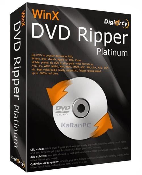 WinX DVD Ripper Platinum 7.5.11 + Key