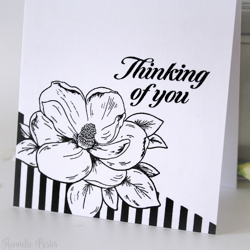 black and white - one layer - sympathy card - hero arts