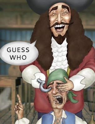 Captain Hook guess who cartoon