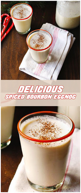 Delicious Spiced Bourbon eggnog #Recipe #easyrecipe #christmas