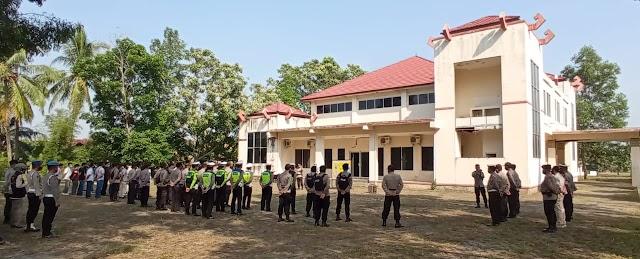 80 Personel Polres Pesawaran Mengamankan DPSHP