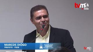 PREFEITO EM EXERCÍCIO DE  GBA MARCUS DIOGO PARTICIPA DE SESSÃO  SOLENE DA CÂMARA MUNICIPAL