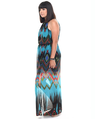 Chevron Print Ombre Maxi Dress She's Cool Dr Jays Side