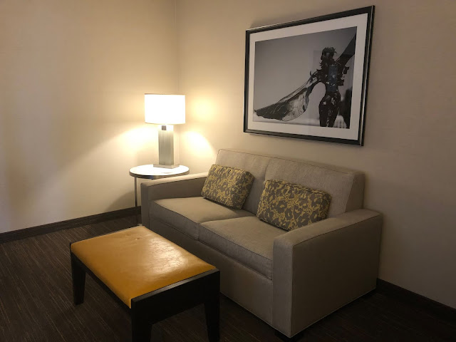 Nice area for sitting and relaxing within the suite.