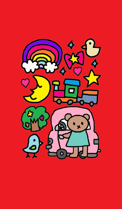 Lilo and car (red)