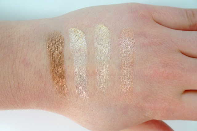 paletka rozświetlaczy kobo face palette golden rand highlighter