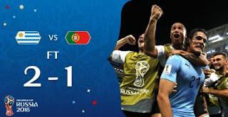 Uruguay vs Portugal 2-1