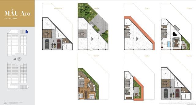 Các mẫu thiết kế hoàn hảo biệt thự shop villas Sunshine Helios Ciputra Hà Nội