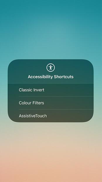 امكانية الوصول Accessibility في مركز التحكم Control Center في iOS 11